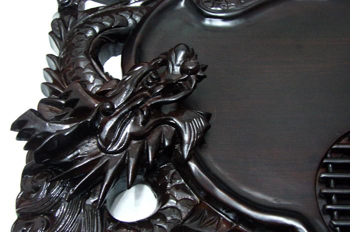 双龙红木茶盘(精品) - 中国兰花交易网