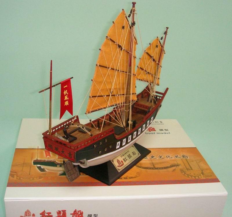 全手工制作的精美帆船模型